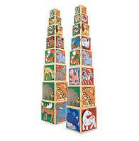 Набор деревянных блоков Melissa & Doug Животные (MD14207), фото 1