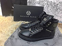 Мужские кеды Philipp Plein High Top Pie Black , Копия, фото 1
