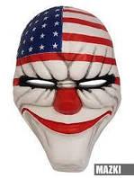 Оригинал! Маска клоуна грабителя крутая страшная