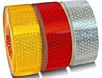 Самоклеюча світловідбиваюча контурна стрічка на авто: біла, жовта, червона.