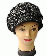 Зимняя женская кепка черного цвета Пейдж