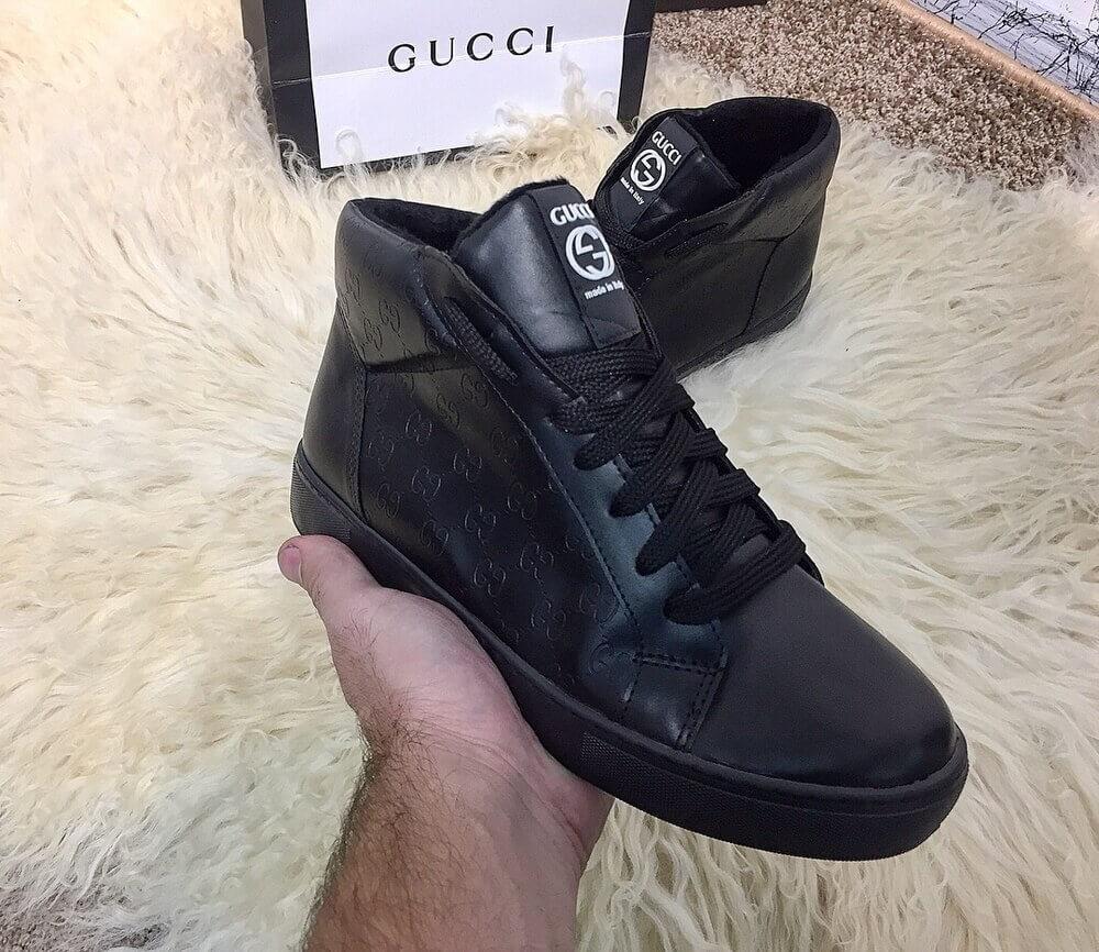 Мужские кеды Gucci High Top  145adb2e36a72