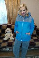 Пижама  женская махра  с длинным рукавом 48р,доставка по Украине