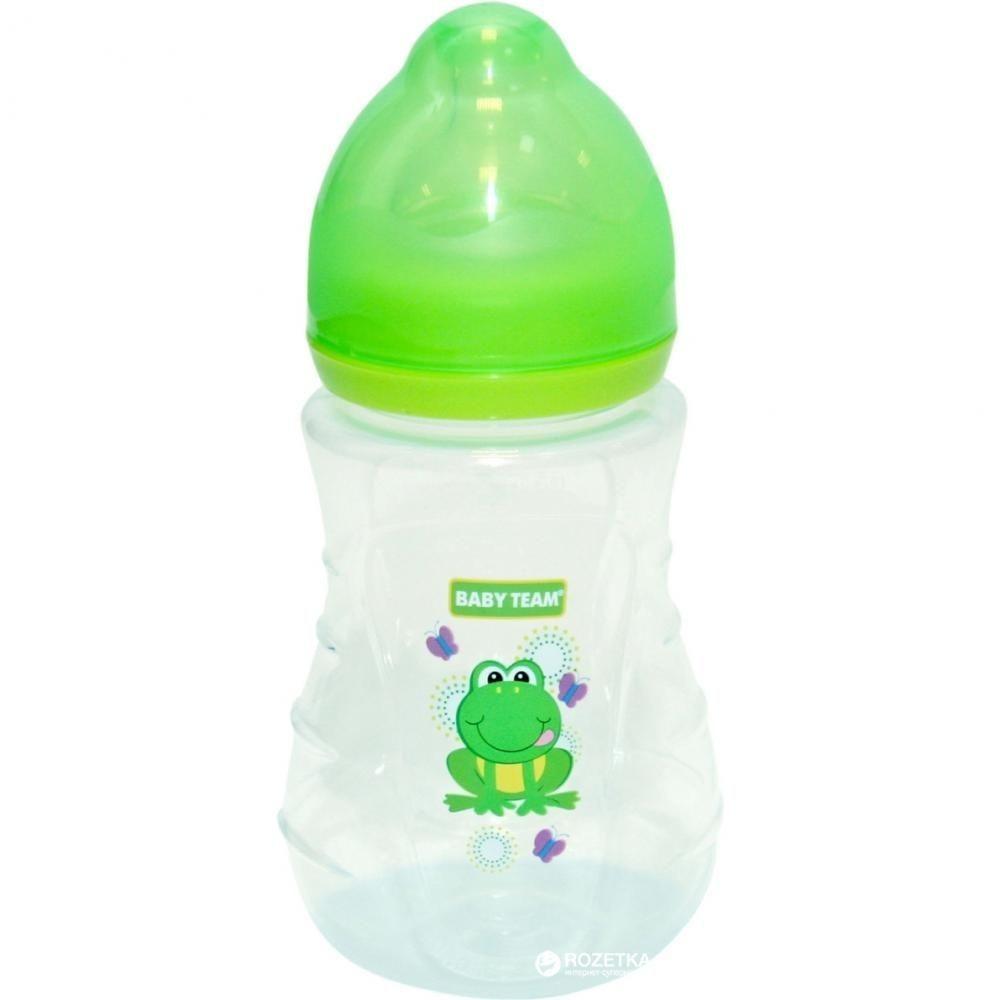 Пляшечка для годування з широким горлом та силіконовою соскою, 250 мл