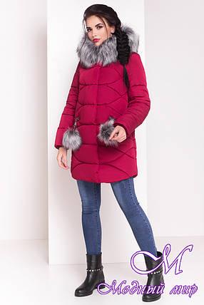 Женская удлиненная зимняя куртка с мехом (р. XS, S, M, L, XL) арт. Ингрид 3537 - 18148, фото 2