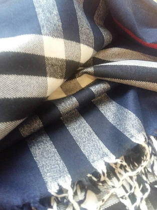 Шарф Burberry-пашмина,синий, фото 3