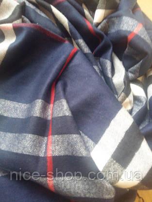 Шарф Burberry-пашмина,синий, фото 2