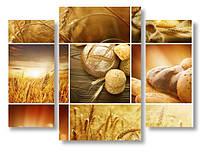 Модульная картина пшеница и выпечка