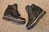 Женские ботинки Dior весна деми лак Black 36 - 41
