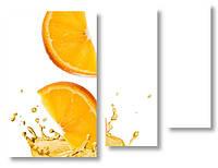 Модульная картина кусочки апельсина 3д