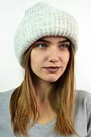 Теплая модная  шапка чулок
