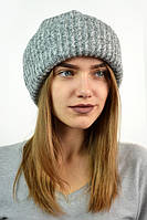 Молодежная вязаная шапка чулок