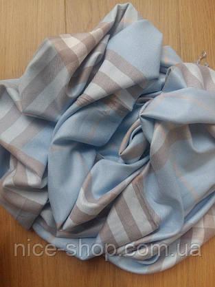 Шарф Burberry пашмина, голубой, фото 3