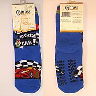 Махровые носки с силиконовыми наклейками спорт машинки
