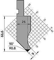 Р.100.90 | 90 гр Пуансон гибочный системы Amada Promecam для гидравлических листогибочных станков
