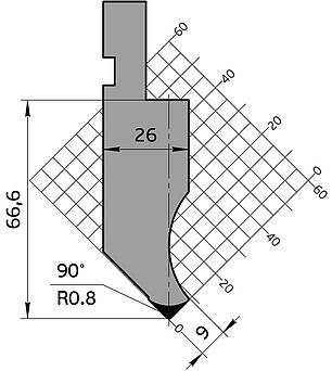 Пуансон для гидравлических станков гибочный системы Amada Promecam, фото 2