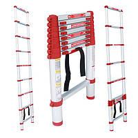Лестница алюминиевая телескопическая 12ступ. 3.80м Intertool LT-3038