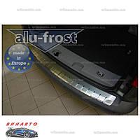 Накладка на бампер с загибом Alufrost для Volkswagen Caddy III 2004+