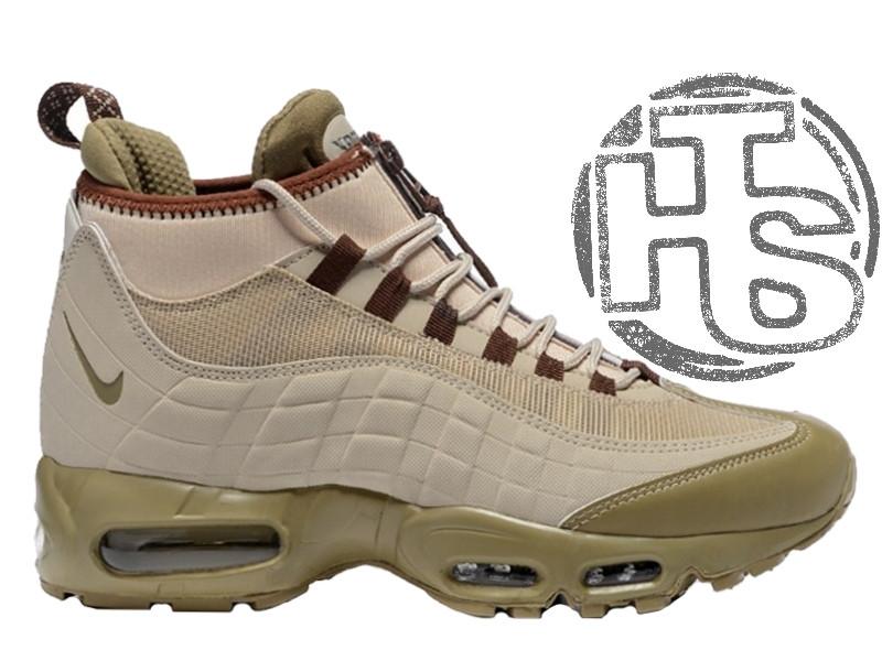 464426f4 Мужские кроссовки Nike Air Max 95 Sneakerboot Khaki/Matte Olive 806809-200  - Интернет