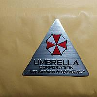 Наклейка/Шильдик/Емблема на авто UMBRELLA 60×70 мм