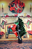"Новогодний Санта на лестнице 1шт  90""85-декор вашего дома,офиса и т.д, фото 1"