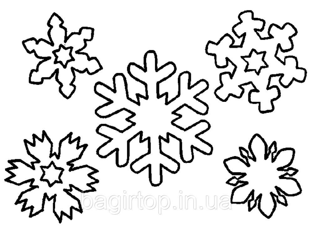 Набор снежинок 5 шт - 30х30 см