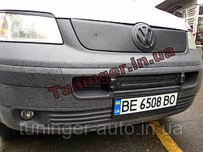 Зимняя накладка на решетку радиатора Volkswagen Transporter T5 2003-2010 (в бампер)