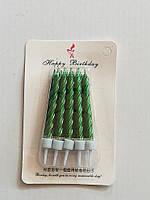 Свечи в торт зеленые 10 шт
