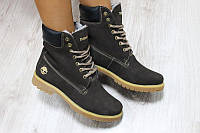 Женские зимние кожаные ботинки Timberland