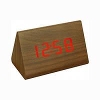 """Часы электронные с термометром """"под дерево"""" 864-1"""