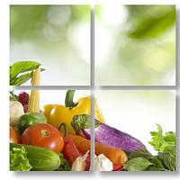 Модульная картина 3д овощи