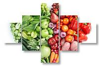 Модульная картина свежие овощи