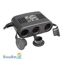 Автомобильный разветвитель гнезда прикуривателя с USB питанием Heyner 3WayPower Pro 511 300
