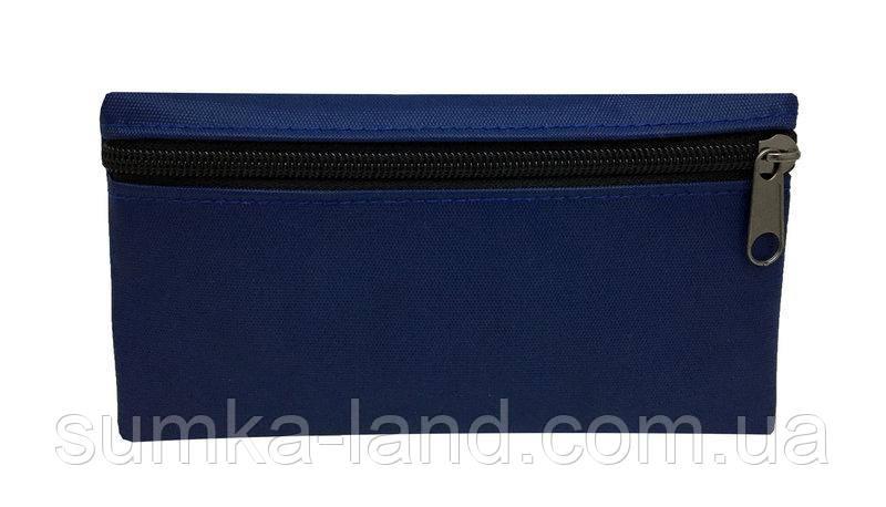 Женский текстильный синий кошелек на молнии