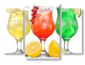 Модульная картина напитки с лимоном