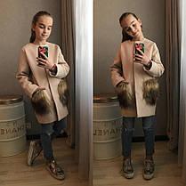 Кашемировое пальто с мехом на карманах, фото 2