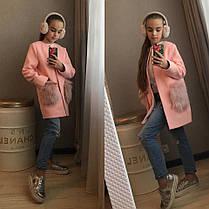 Кашемировое пальто с мехом на карманах, фото 3