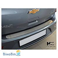 Накладка на бампер NataNiko B-SK13 для Skoda Fabia II Combi 2007+