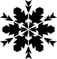 Новогодняя виниловая наклейка - снежинка 1 (10х10 см)