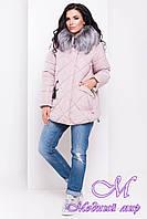 Женская зимняя куртка с капюшоном (р. S, M, L) арт. Лисбет 3253 - 16729