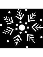 Новогодняя виниловая наклейка - снежинка 2 (10х10 см)
