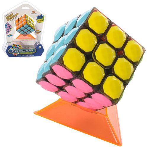 Кубик Рубика YJ8510  6-6-6см, подставка, в слюде, 18-23-7,5см