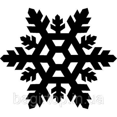 Новогодняя виниловая наклейка - снежинка 3 (10х10 см)