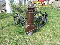 Вентиляционный выход 110мм коричневый Kamp-eu, фото 1
