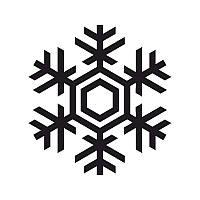 Новогодняя виниловая наклейка - снежинка 4 (10х10 см)