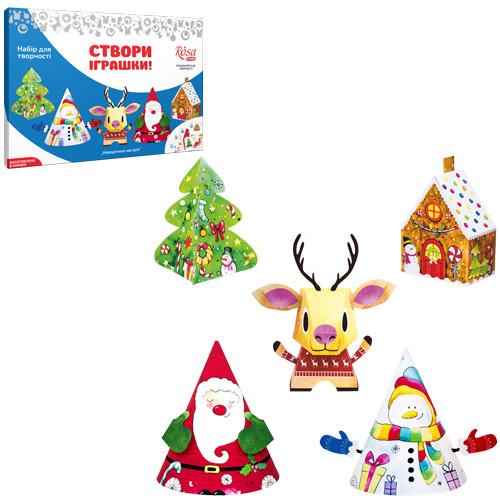 Набір, іграшки паперові «Новорічний настрій», ROSA START