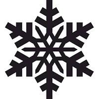 Новогодняя виниловая наклейка - снежинка 5 (10х10 см)