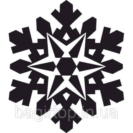 Новорічна вінілова наклейка - сніжинка 6 (10х10 см)
