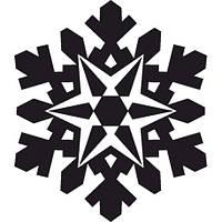 Новогодняя виниловая наклейка - снежинка 6 (10х10 см)