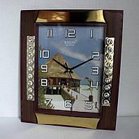 Настенные кварцевые часы Rikon 603-2 Пейзаж.